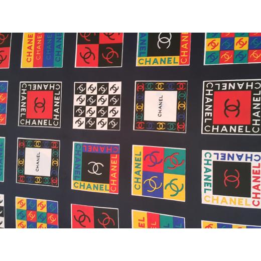 Chusta apaszka jedwab Chanel multicolor