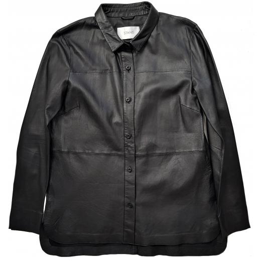 Stand koszula skóra naturalna, czarna, nowa 36