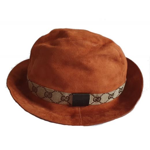 GUCCI zamszowy kapelusz, nowy
