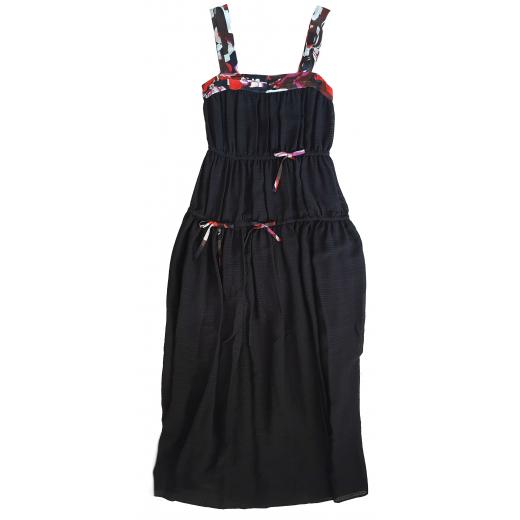 Emilio Pucci sukienka czarna, jedwab, nowa 40IT