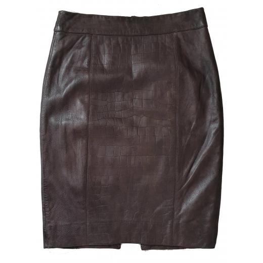 Etcetera Crocodile Genuine Leather Skirt 36/38