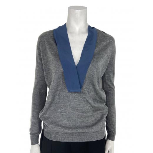 Prada Sweter z ozdobną wstążką