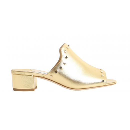 Jimmy Choo Myla metallic leather mules