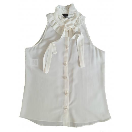 Boutique Moschino kremowa bluzka jedwab 42IT 36-38