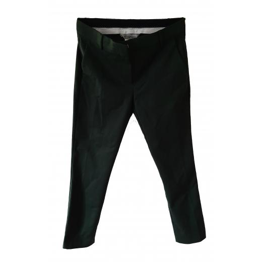 Butelkowozielone spodnie cygaretki Sportmax 38 eleganckie M 40 L