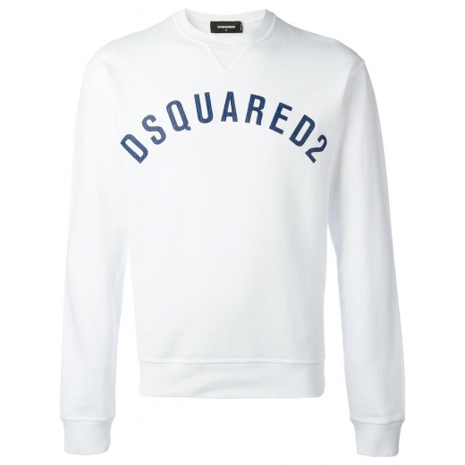 DSquared2 White Logo Sweatshirt, nowa L