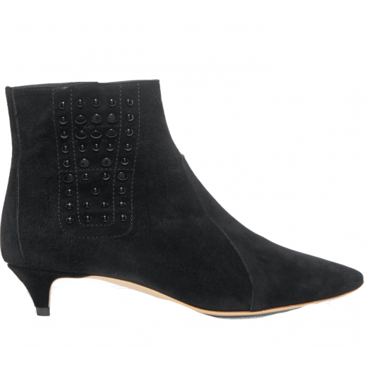 TOD'S Studded suede ankle boots