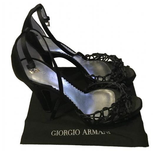 Sandały na obcasie GIORGIO ARMANI