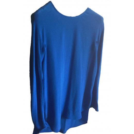 Jedwabna bluzka SPORTMAX szafirowa