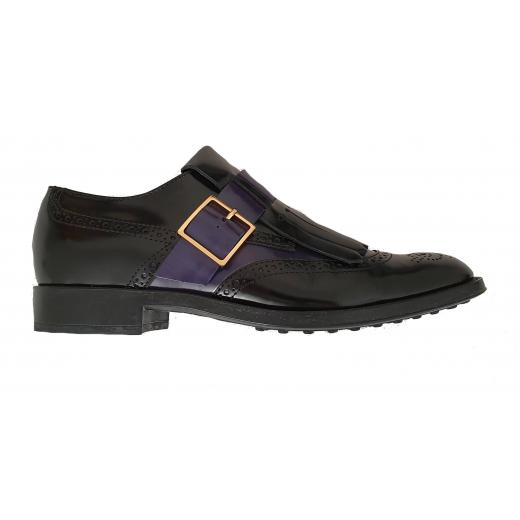 Tod's Oxfordy buty skóra naturalna