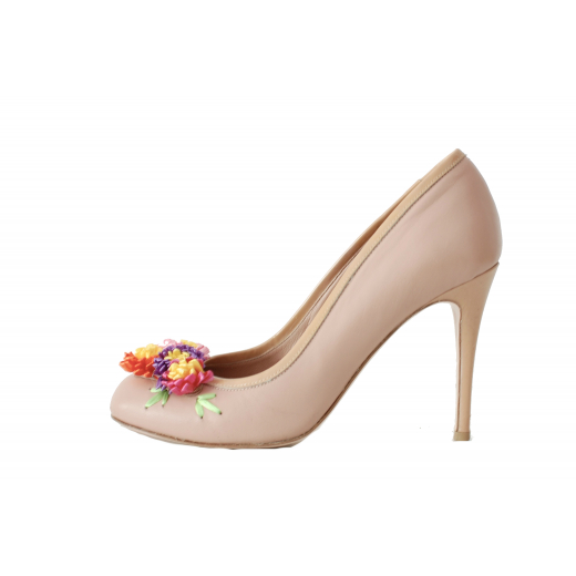 Red Valentino Blush Pumps with florals