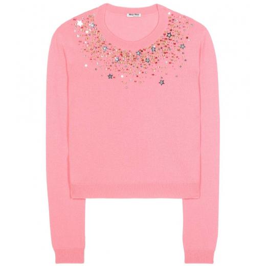 Miu Miu sweter różowy, kaszmir 100% S/M