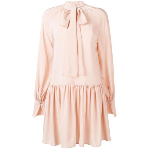 Stella McCartney Ruffled Midi Dress silk, nowa S-M
