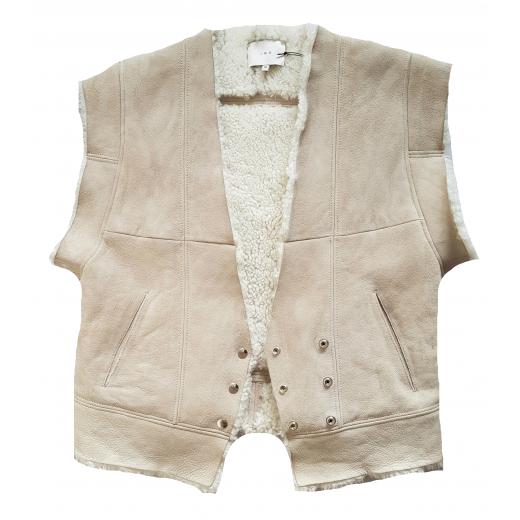 IRO kożuch / bezrękawnik Issa Shearling Vest 36/38