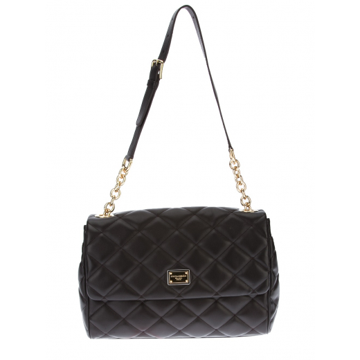 Dolce & Gabbana torebka czarna, skóra naturalna