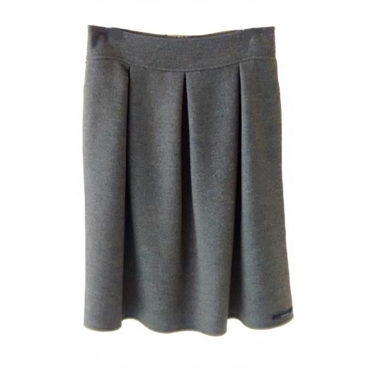 Spódnica z podwójnej wełny, szyta ręcznie, nowa