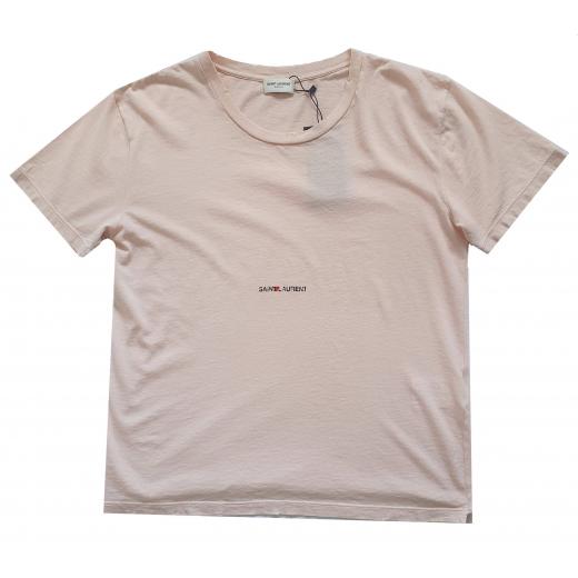 Saint Laurent cotton destroyed T-shirt nowy XS-S