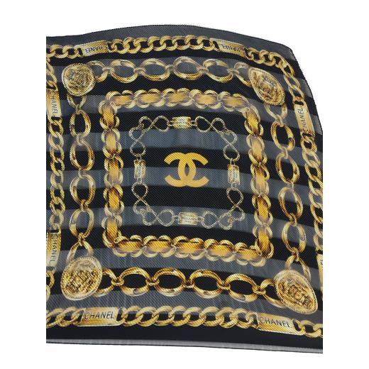 Apaszka Chanel jedwab plisowana