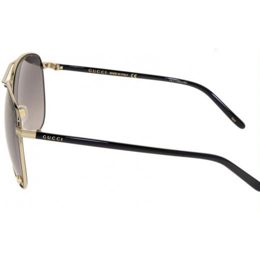 Gucci Black Gold Aviator GG0502 Sunglasses