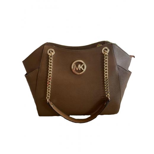 torebka torba brązowa Michael kors MK złota