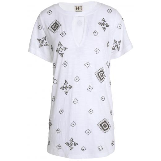 HAUTE HIPPIE T-shirt z baweł. dżerseju z wycięciem