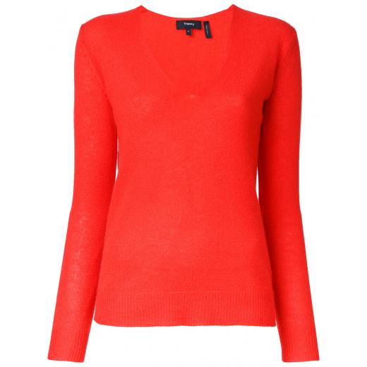 Theory sweter V-Neck, 100% kaszmir nowy xs-s