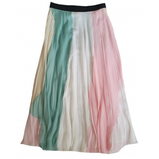 Emilio Pucci Colour Block Pleated Skirt