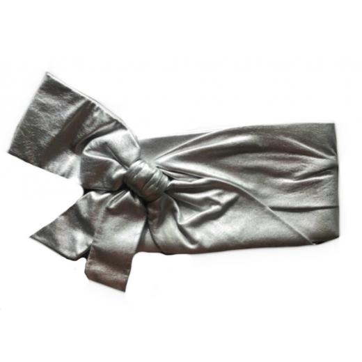Kopertówka Red VALENTINO srebrna skórzana