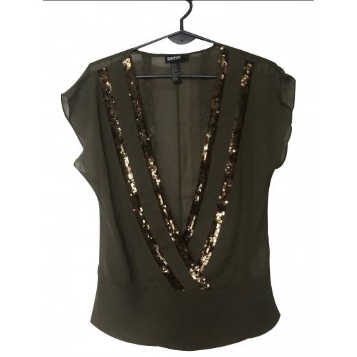 Bluzka jedwabna DKNY
