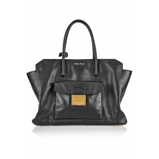 Miu Miu torebka black leather tote nowa