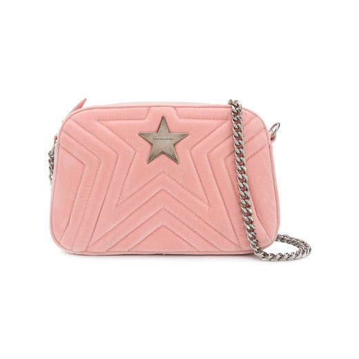 Stella McCartney Pink Velvet Crossbody Bag, nowa