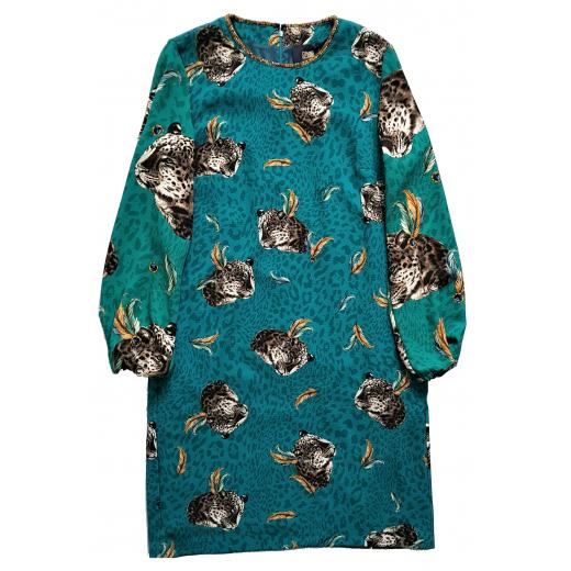 Cavalli Class sukienka leopard print krepa 38