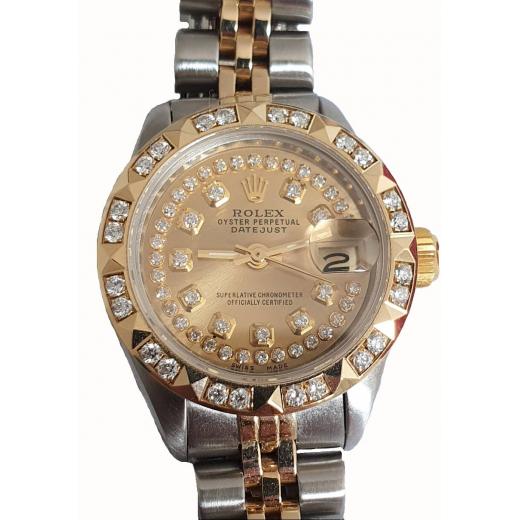 Rolex Lady Datejust 2 Dial-Pyramid Diamond Bezel