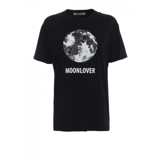 Valentino Black Moonlover Printed T-shirt