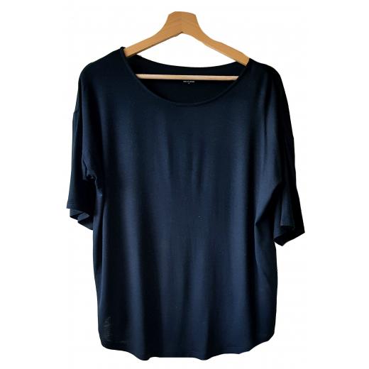 Bluzka czarna z krótkim rękawem DKNY z metką