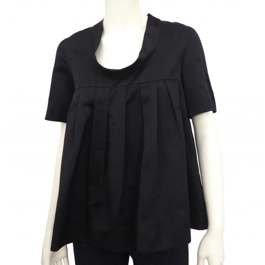 Miu Miu jedwabna plisowana bluzka XS