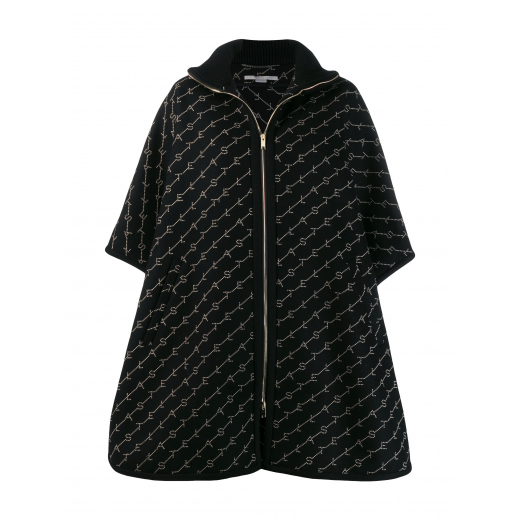 Stella McCartney embroidered logo cape, nowa S-L