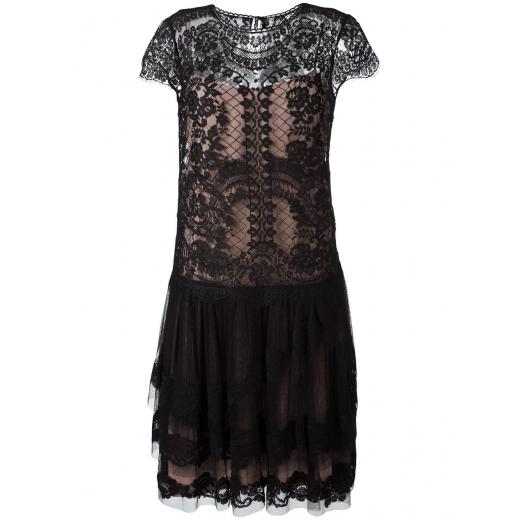 Alberta Ferretti sukienka czarna jedwabna