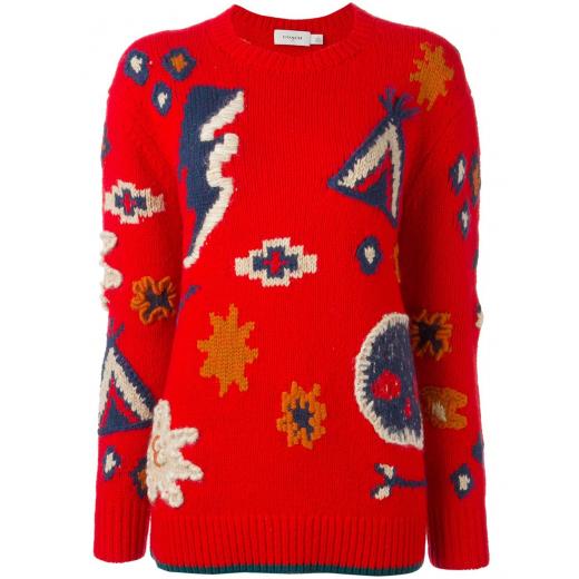 Coach sweter czerwony nowy 34/36