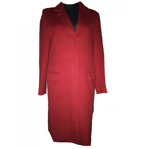 płaszcz wełniany czerwony