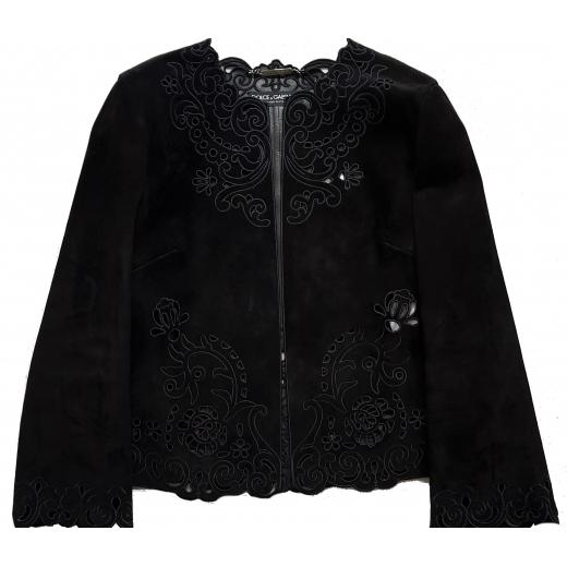 Dolce & Gabbana żakiet, zamsz naturalny, nowy