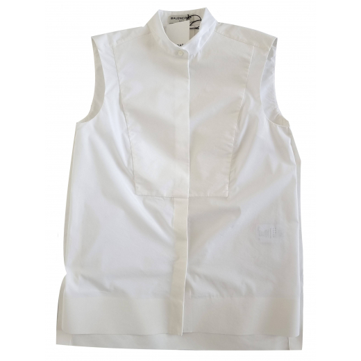 Balenciaga White Sleeveless Shirt XXS-XS