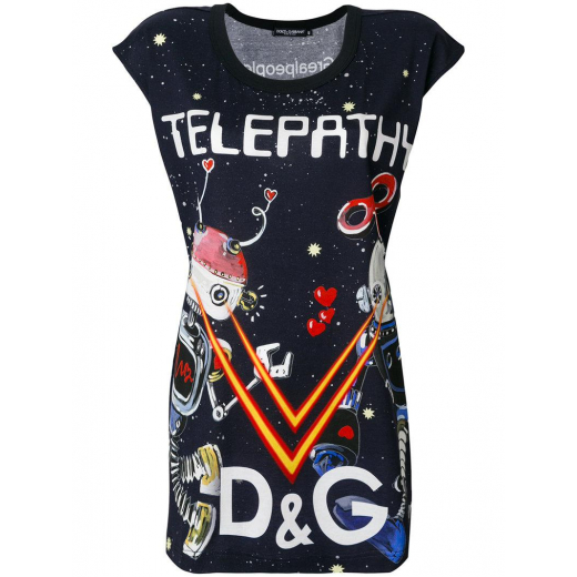 Dolce Gabbana Telepathy Print T-shirt nowy S-M