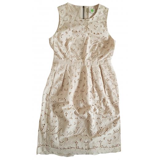 Stella McCartney sukienka bawełniana ecru 34-36