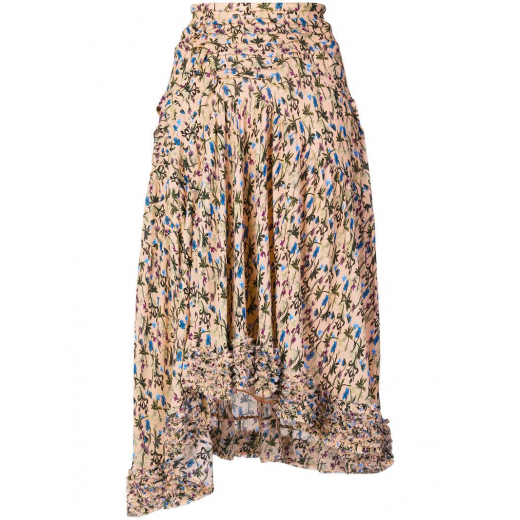 Chloe Natural Frayed Floral Skirt nowa