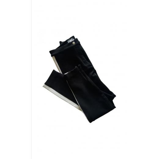 vintage spodnie z lampasami Dolce&Gabbana z wełną