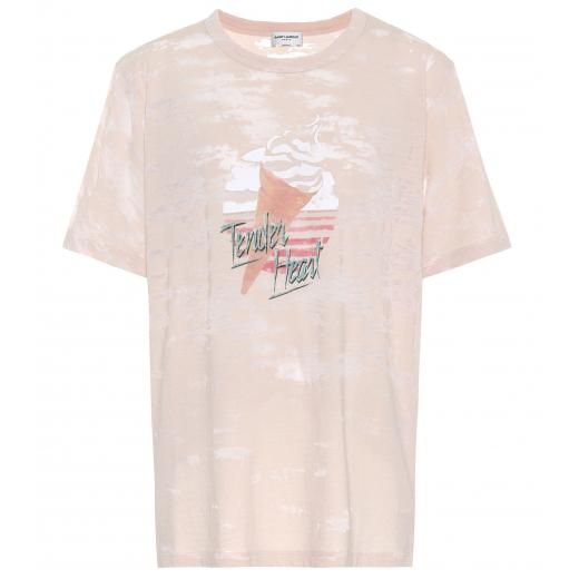 Saint Laurent Tender Heart T-shirt nowy S 36-38