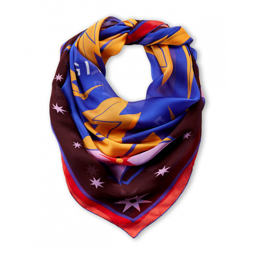 GIVENCHY Burgundy Iconic Flash Silk Shawl, nowa