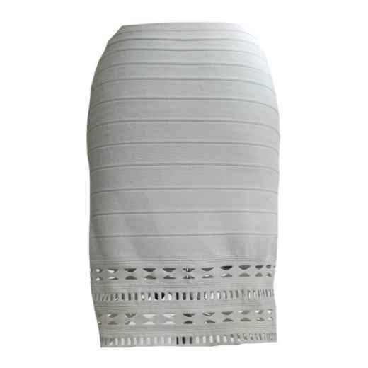 Biała Bandażowa Spódnica 40 L