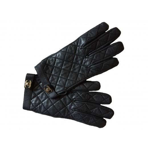 Rękawiczki skórzane Chanel
